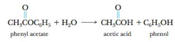 Chapter 14, Problem 6PS, 6. Phenyl acetate, an ester, reacts with water according to the equation  The data in the table were