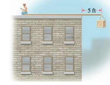 Chapter P.9, Problem 64E, APPLICATIONS Law of the Lever A plank 30 ft long rests on top of a flat-roofed building, with 5 ft.
