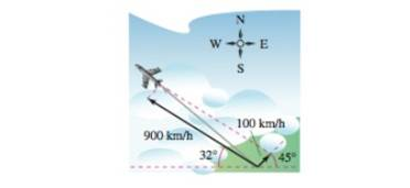 Chapter 11.1, Problem 83E, Navigation A plane is flying with a bearing of 302. Its speed with respect to the air is 900