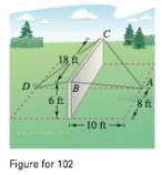 Chapter 11.2, Problem 104E, Construction A precast concrete wall is temporarily kept in its vertical position by ropes (see