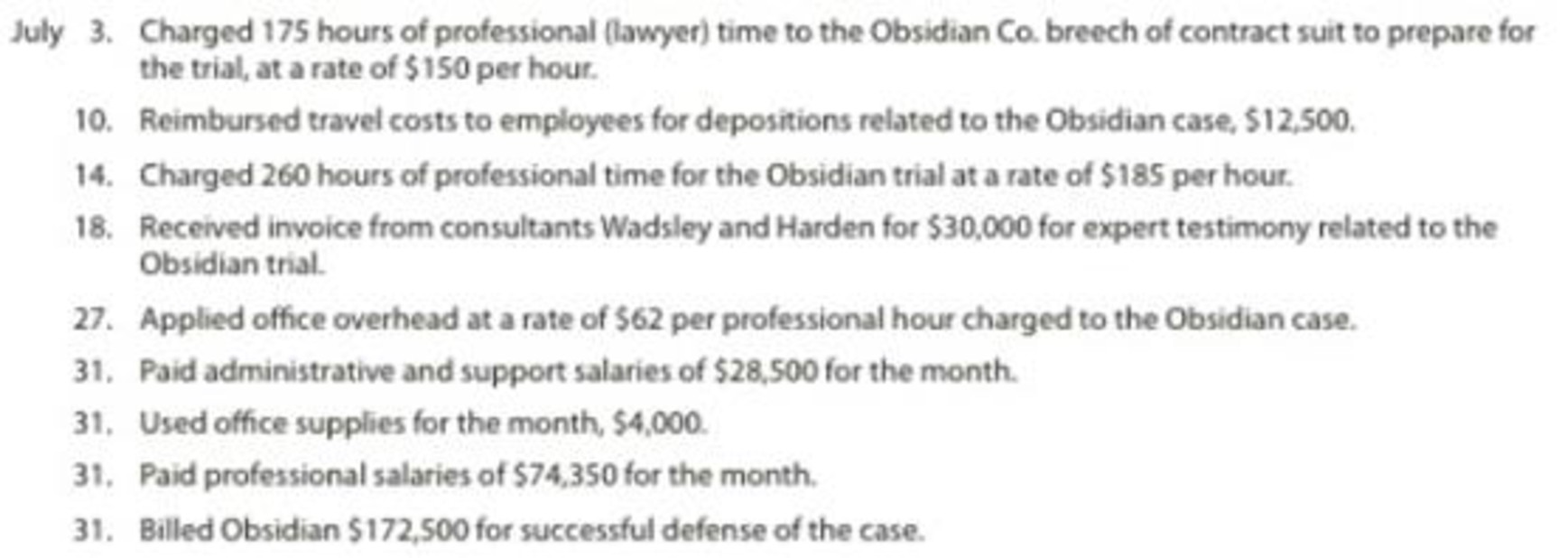 Job order cost accounting for a service company Obj  | bartleby